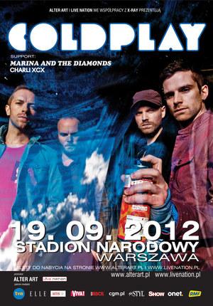 Plakat promujący koncert Coldplay w Warszawie /  /materiały prasowe