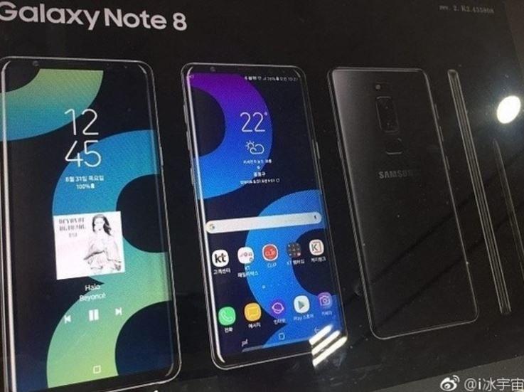 Plakat przedstawiający Note'a 8 może być fotomontażem /Android Headlines /Internet