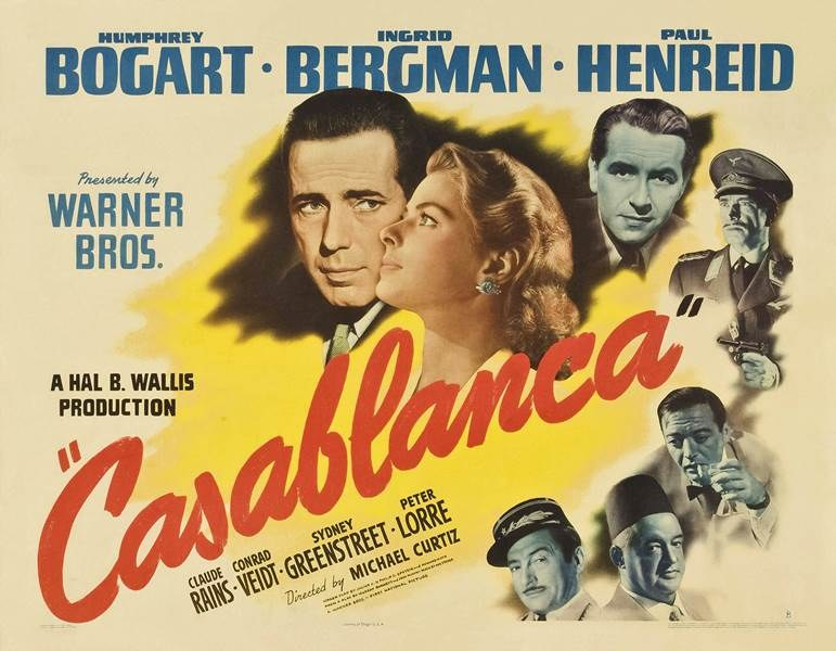 "Plakat reklamujący film ""Casablanca"" /Photoshot    /PAP"