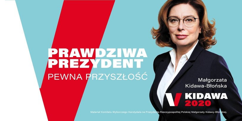 Plakat wyborczy zaprezentowany przez Małgorzatę Kidawę-Błońską /Twitter
