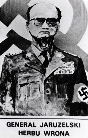 Plakat z okresu stanu wojennego, przedstawiający generała Wojciecha Jaruzelskiego /KARTA /Agencja FORUM