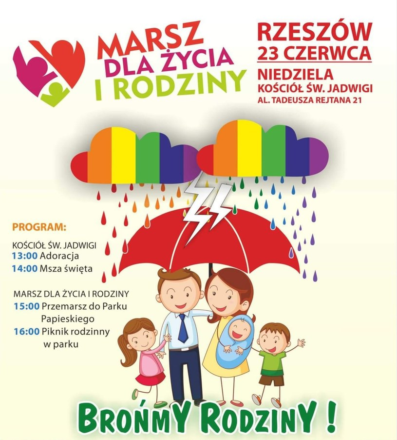 Plakat zachęcający do udziału w marszu /facebook.com