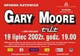 Plakat zapowiadający koncert Gary'ego Moore'a w Spodku /