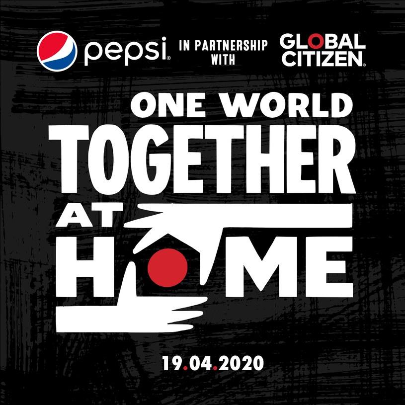 """Plakat zapowiadający koncert """"One World: Together at Home"""" /materiały prasowe"""