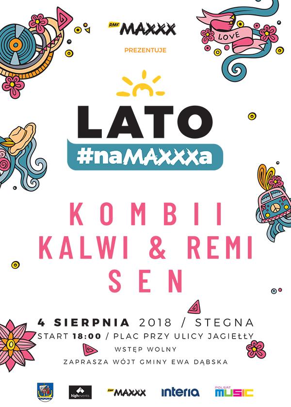 """Plakat zapowiadający """"Lato #naMAXXXa"""" w Stegnie /materiały prasowe"""