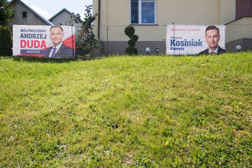 Plakaty Andrzeja Dudy i Władysława Kosiniaka-Kamysza /Wojciech Strożyk REPORTER /East News