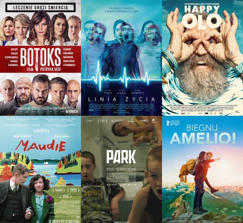 Plakaty sześciu premier, które trafiają na ekrany kin w ostatni piątek października /materiały dystrybutora
