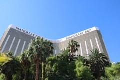 Plamy krwi, pobite szkło. Miejsce tragedii w Las Vegas w obiektywnie korespondenta RMF FM