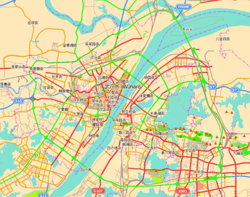 Plan miasta Wuhan /Wikimedia Commons /domena publiczna