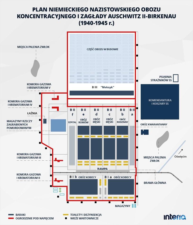 Plan obozu Auschwitz /INTERIA.PL