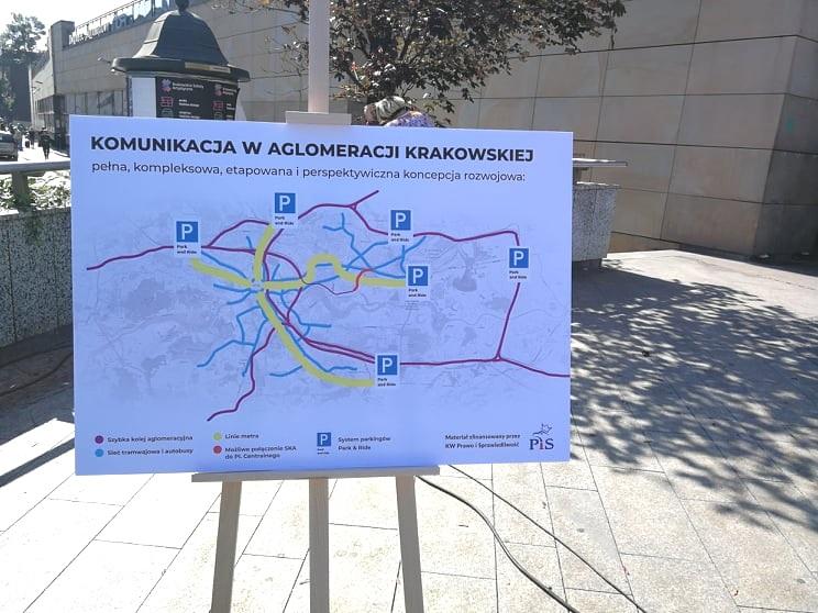 Plan przebiegu krakowskiego metra /Ewa Majewska /INTERIA.PL