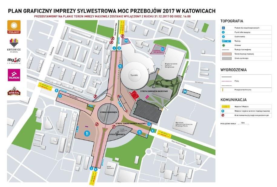 Plan Sylwestrowej Mocy Przebojów /UM Katowice /