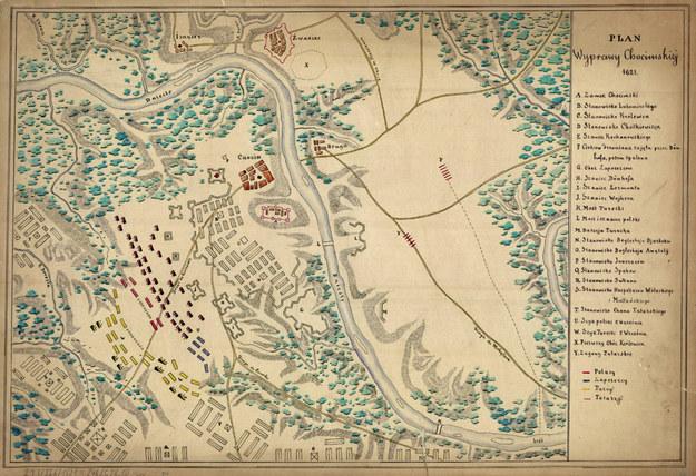 Plan wyprawy chocimskiej 1621 r. /Biblioteka Narodowa