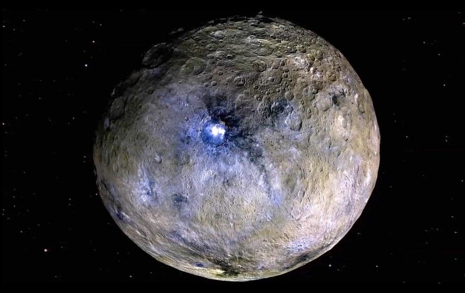 Planeta karłowata Ceres, którą uważa się za potencjalne źródło substancji organicznych znalezionych w obu meteorytach /Materiały prasowe