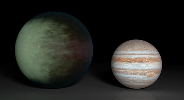 Planeta Kepler-7b jest 1,5 razy większa od Jowisza /NASA