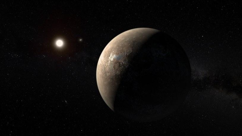 Planeta Proxima Centauri b (wizualizacja). Fot. European Southern Obsevatory /materiały prasowe