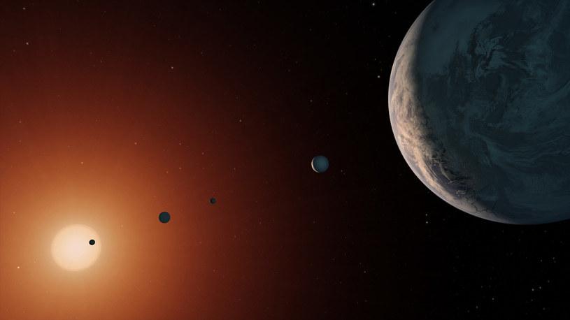 Planety w układzie Trappist-1 mogą być potencjalnie zamieszkałe /materiały prasowe