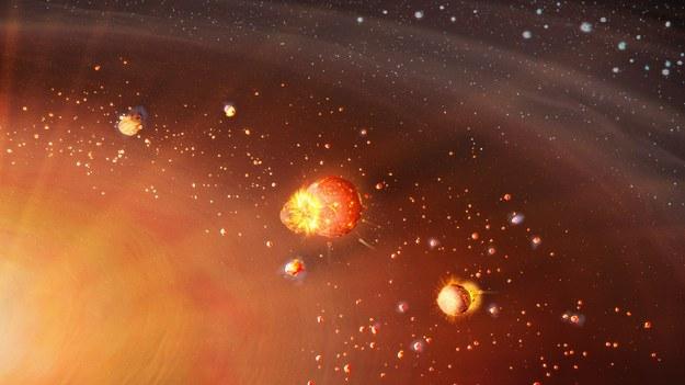 Planety wewnętrzne Ukłądu Słonecznego tworzyły się wcześniej, zewnętrzne - później /Mark A Garlick/markgarlick.com /Materiały prasowe