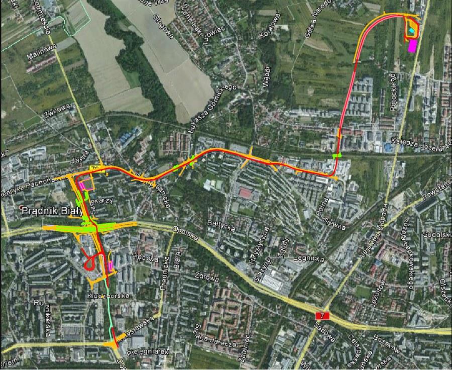 Planowana trasa tramwaju /Zarząd Infrastruktury Komunalnej i Transportu /Zrzut ekranu
