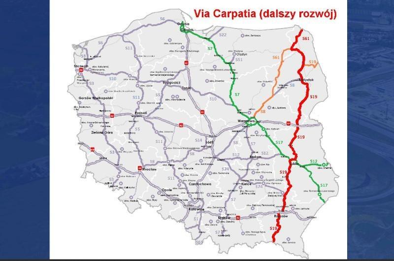 Planowy przebieg viaCarpatia /