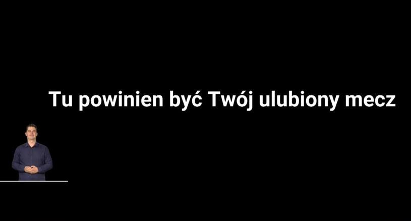 Plansza wyemitowana w Telewizji Polskiej przed orędziem marszałka Tomasza Grodzkiego /TVP