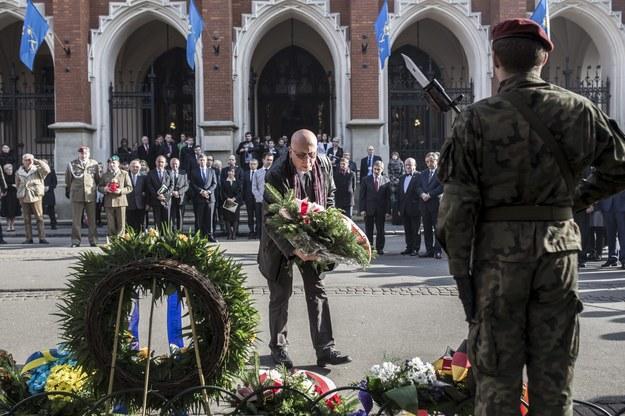 Planty przed Collegium Novum, obchody Akademickiego Dnia Pamieci z okazji 76. rocznicy Sonderaktion /Fot. Michal Lepecki /