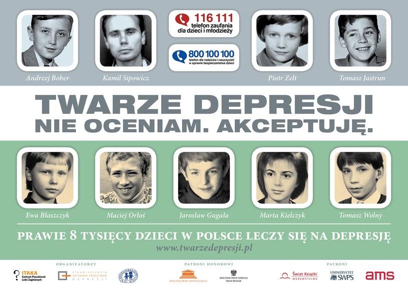 Plata promujący akcję, źródło: twarzedepresji.pl /