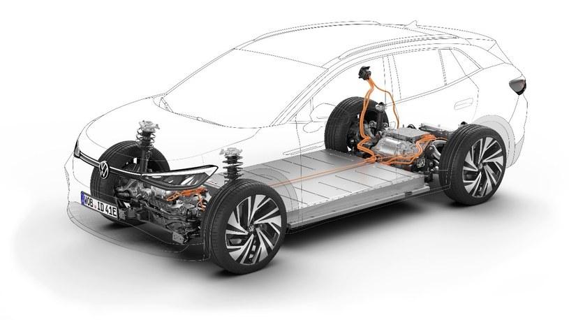 Platforma MEB to ważące 500 kg akumulatory rozmieszczone płasko między osiami /materiały promocyjne