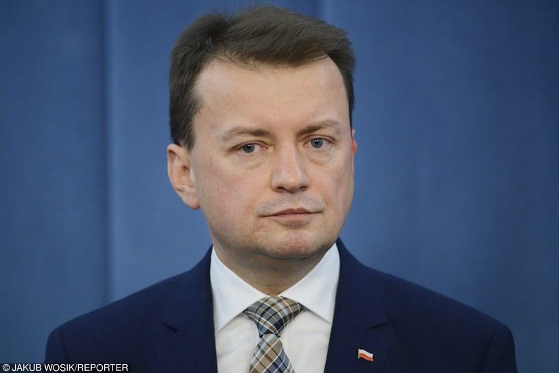 Platforma złożyła w Sejmie wniosek o wotum nieufności wobec szefa MSWiA Mariusza Błaszczaka /Jakub Wosik  /Reporter