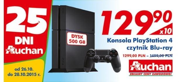 PlayStation 4 w sieci sklepów Auchan /materiały promocyjne