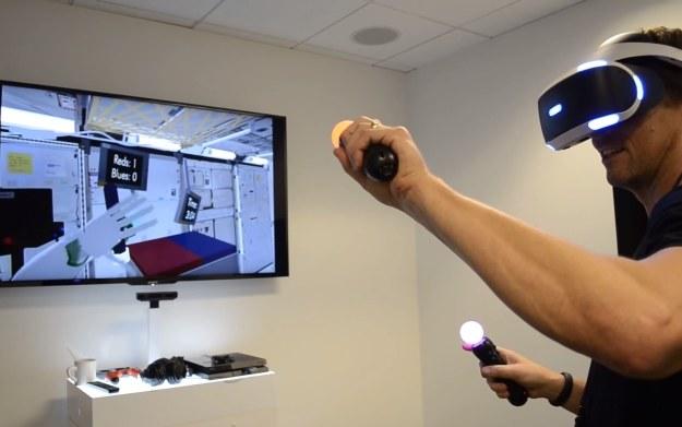 PlayStation VR - fragment technicznego dema NASA to treningu w bazie kosmicznej. Źródło: Youtube.com/kanał: Road to VR /materiały źródłowe