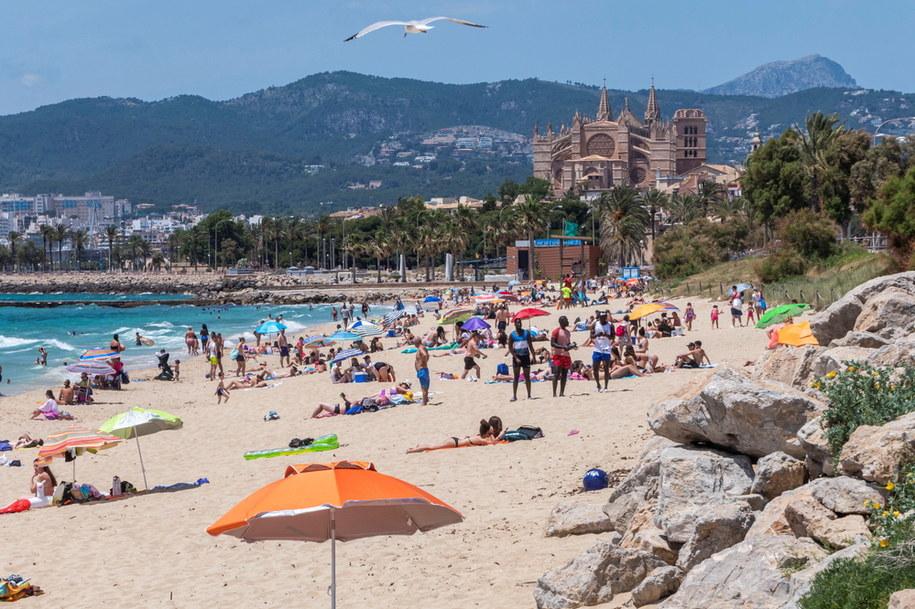Plaża Can Pere Antoni na Majorce /CATI CLADERA  /PAP/EPA
