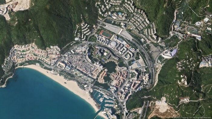 Plaża Damelsha w Shenzhen w Chinach. Zdjęcie zostało wykonane przez Skysat-1 Fot. Skybox /Kosmonauta