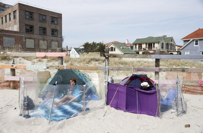 Plaża Jacob Riis w dzielnicy Queens w Nowym Jorku /JUSTIN LANE /PAP/EPA