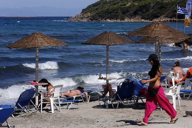 Plaża na wyspie Lesbos. Fot. Milos Bicanski /Getty Images/Flash Press Media