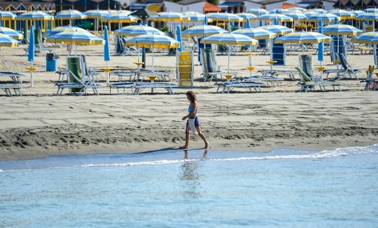 Plaża Ostia, zdj. ilustracyjne /AFP