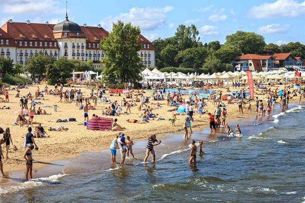 Plaża przed hotelem Grand w Sopocie /©123RF/PICSEL