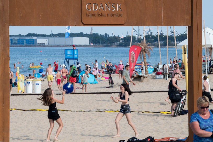 Plaża w Gdańsku; zdj. ilustracyjne /Wojciech Stróżyk /Reporter