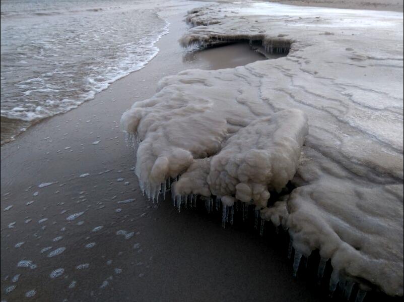 Plaża w Gdańsku, zdjęcie nadesłane przez czytelnika Ibolya /INTERIA.PL