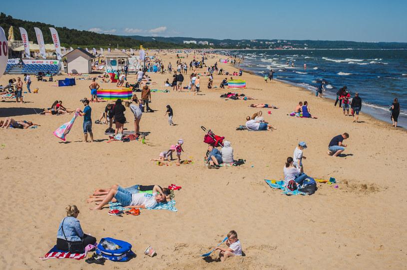 Plaża w Gdańsku /Karol Makurat/ /Reporter