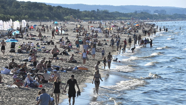 Plaża w Gdańsku /Marcin Gadomski /PAP