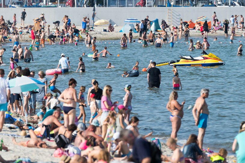 Plaża w Gdyni /Fot. Wojciech Strozyk /Reporter