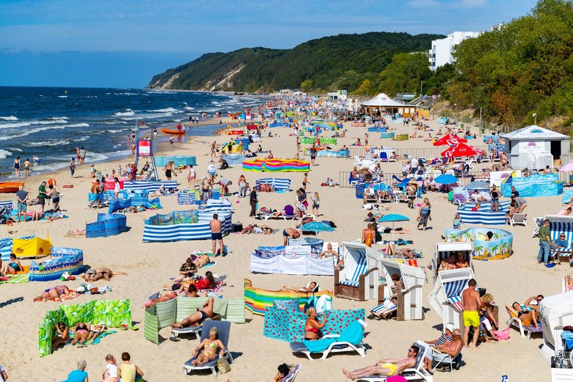Plaża w Międzyzdrojach /Robert Stachnik /Reporter