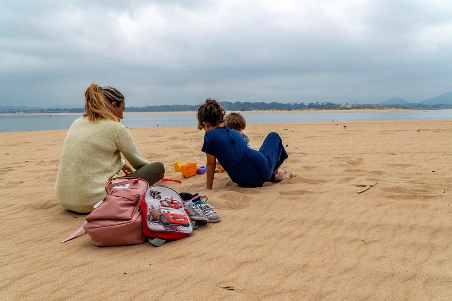 Plaża w  Santander w Hiszpanii /ROMAN G. AGUILERA /PAP/EPA