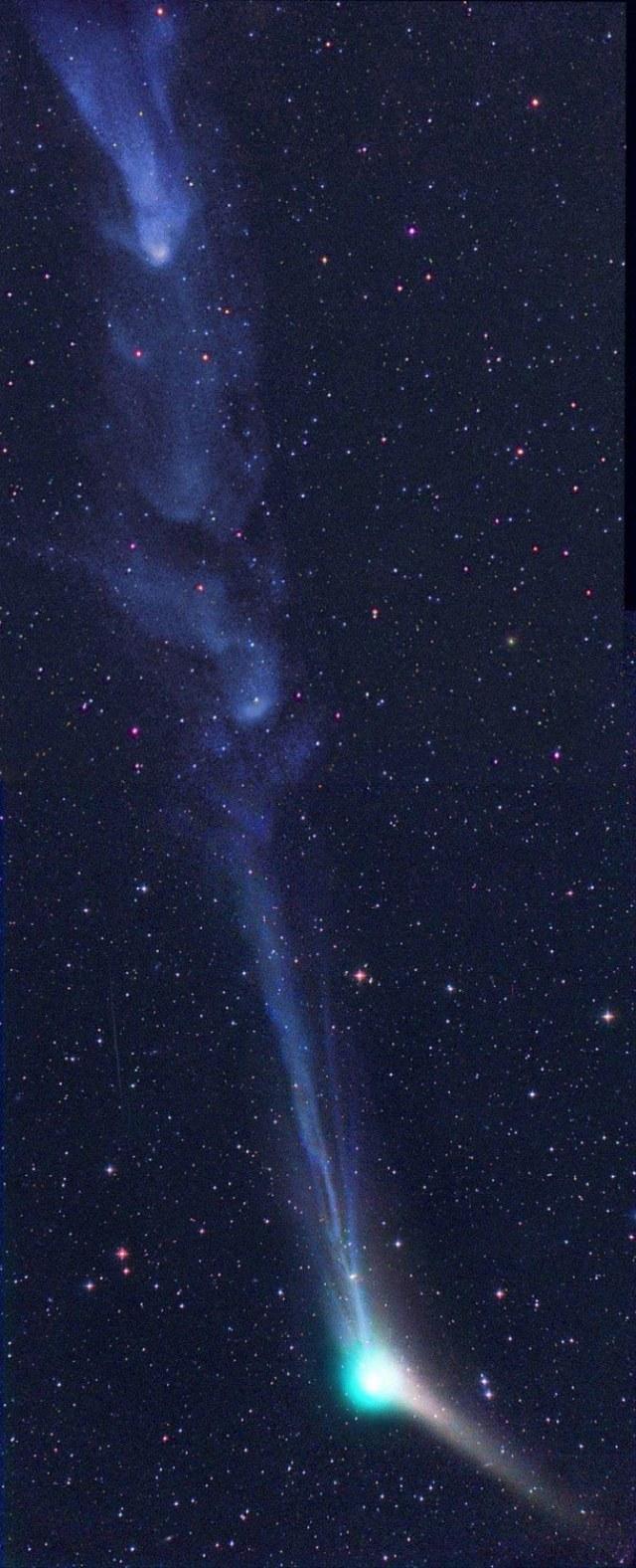 Plazma w ogonie komety Catalina /materiały prasowe