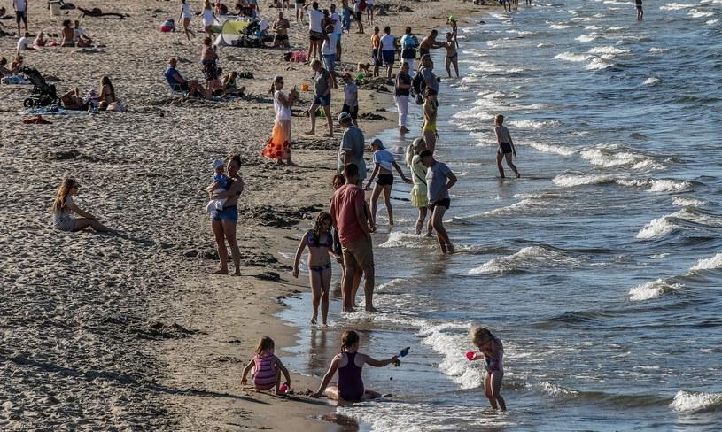 Plażowicze w Sopocie /Fot. Karolina Misztal/REPORTER /East News