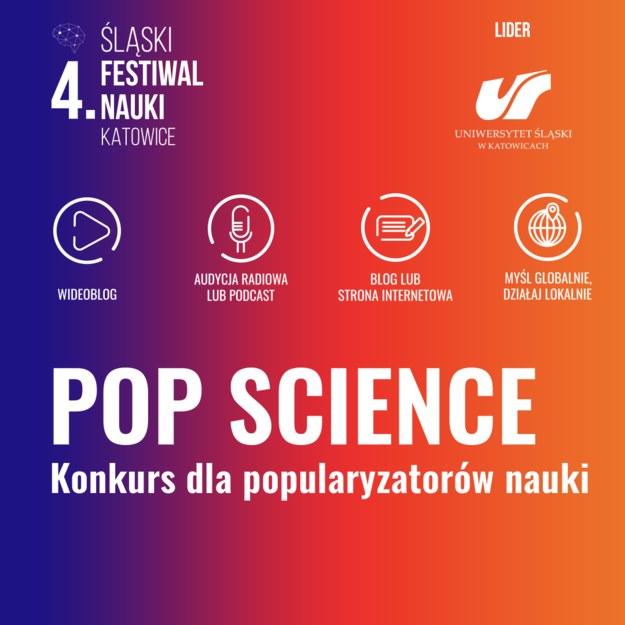 Plebiscyt POP Science po raz pierwszy towarzyszy Śląskiemu Festiwalowi Nauki KATOWICE /