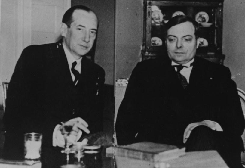 Płk. Józef Beck (z lewej) z ambasadorem Francji w czasie rozmów dwustronnych /Getty Images/Flash Press Media