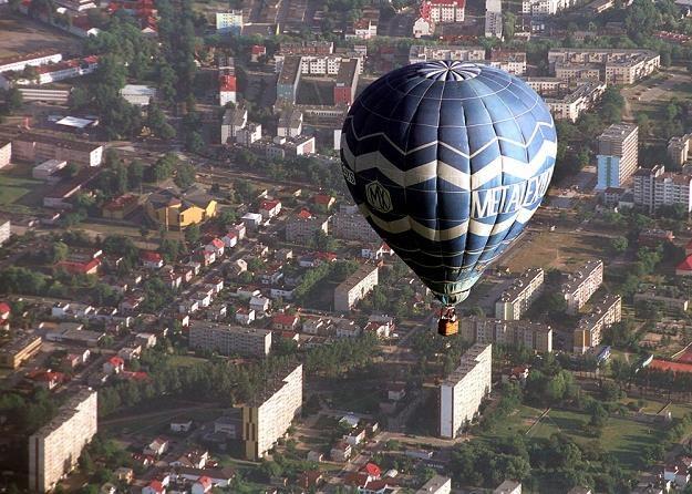 Płock widziany z balona. Fot. Filip Cwik Newsweek Polska /Reporter