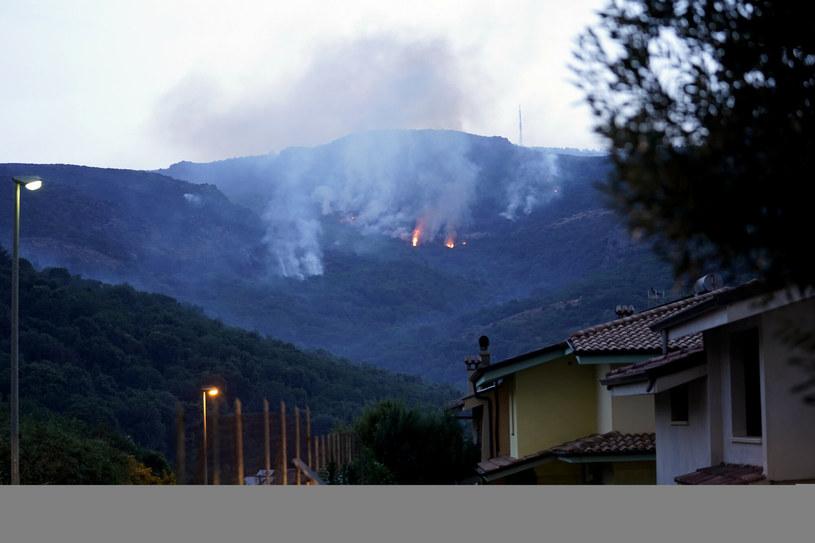 Płomienie pojawiły się w sobotę w okolicach miejscowości Montiferru /LaPresse/Associated Press /East News